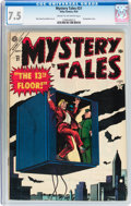 Golden Age (1938-1955):Horror, Mystery Tales #21 (Atlas, 1954) CGC VF- 7.5 Cream to off-whitepages....