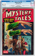 Golden Age (1938-1955):Horror, Mystery Tales #25 (Atlas, 1955) CGC VG+ 4.5 Cream to off-whitepages....
