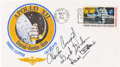 """Explorers:Space Exploration, Apollo 12 Crew-Signed """"Type One"""" Insurance Cover Originally fromthe Personal Collection of Mission Lunar Module Pilot Alan Be..."""