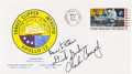 """Explorers:Space Exploration, Apollo 12 Rare Crew-Signed """"Type Three"""" Insurance Cover Originallyfrom the Personal Collection of Mission Lunar Module Pilot ..."""