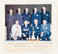 Autographs:Celebrities, NASA Astronauts Group Two Color Photo Signed on the Mat, Originallyfrom the Jim Rathmann Collection....