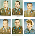 Autographs:Celebrities, Soviet Vostok and Voshkod Missions: Individual Signed Color Photosof the First Eleven Cosmonauts in Space, 1961-1965.... (Total: 11 )