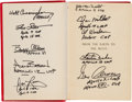 Autographs:Celebrities, Jules Verne: From the Earth to the Moon Book Signed by Ten Apollo Astronauts. ...