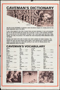 """Movie Posters:Fantasy, When Dinosaurs Ruled the Earth (Warner Brothers, 1970). Poster (40"""" X 60"""") """"Caveman's Dictionary"""" Style. Fantasy.. ..."""