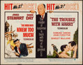 """Movie Posters:Hitchcock, The Trouble with Harry/ Man Who Knew Too Much Combo (Paramount, R-1963). Half Sheet (22"""" X 28""""). Hitchcock.. ..."""