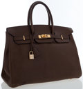 Luxury Accessories:Bags, Hermes 35cm Vert Olive Swift Leather Birkin Bag with Gold Hardware....