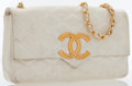 Luxury Accessories:Bags, Chanel White Quilted Lambskin Leather Flap Bag with Gold Hardware ....