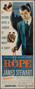 """Movie Posters:Hitchcock, Rope (Warner Brothers, 1948). Insert (14"""" X 36""""). Hitchcock.. ..."""