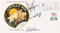 "Explorers:Space Exploration, Apollo 13 Crew-Signed ""Type One"" Insurance Cover Originally fromthe Personal Collection of Mission Commander James Lovell, Si..."