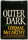 Books:Literature 1900-up, Cormac McCarthy. Outer Dark. New York: Random House, [1968].First edition. Publisher's cloth and original dust jack...