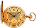 Timepieces:Pocket (post 1900), A. Lange & Sohne Very Fine 18k Gold First Quality Hunters Case, circa 1910. ...