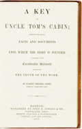 Books:Literature Pre-1900, Harriet Beecher Stowe. A Key to Uncle Tom's Cabin. Boston:John P. Jewett, 1853. First edition. Original cloth bindi...