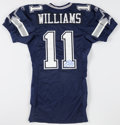 Football Collectibles:Uniforms, Roy Williams Signed, Game Issued Dallas Cowboys Jersey....
