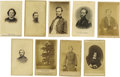 Military & Patriotic:Civil War, Group 9 of Civil War CDVs Including Grant, Sherman, McClellan, Mary Lincoln. A miscellaneous collection of cartes de visit... (Total: 9 )