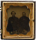 Military & Patriotic:Civil War, 1/6th Plate Ambrotype Of A Wounded Fitzhugh Lee. Fitzhugh Lee, nephew of Robert E. Lee, is shown here in this 6th plate ambr...
