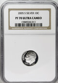 Proof Roosevelt Dimes: , 2005-S 10C Silver PR70 Deep Cameo NGC. PCGS Population (65/0).Numismedia Wsl. Price: $44. (#95311)...