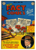 "Golden Age (1938-1955):Western, Real Fact Comics #18 Davis Crippen (""D"" Copy) pedigree (DC, 1949)Condition: VF+. Overstreet 2006 VF 8.0 value = $83; VF/NM ..."