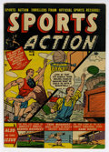"Golden Age (1938-1955):Non-Fiction, Sports Action #6 Davis Crippen (""D"" Copy) pedigree (Atlas, 1951)Condition: VF-. Overstreet 2006 VF 8.0 value = $124. From..."