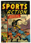 """Golden Age (1938-1955):Non-Fiction, Sports Action #5 Davis Crippen (""""D"""" Copy) pedigree (Atlas, 1951) Condition: FN. Overstreet 2006 FN 6.0 value = $66. From t..."""