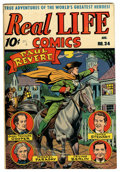 """Golden Age (1938-1955):Miscellaneous, Real Life Comics #34 Davis Crippen (""""D"""" Copy) pedigree (Nedor Publications, 1946) Condition: VF/NM. Jimmy Stewart story. Ove..."""