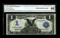 Large Size:Silver Certificates, Fr. 230 $1 1899 Silver Certificate CGA Gem Uncirculated 66. Natural paper ripple and embossing is viewed through the third-p...