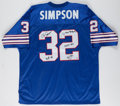 Football Collectibles:Uniforms, O.J. Simpson Signed, Stat Inscribed Buffalo Bills Jersey....