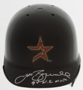 Baseball Collectibles:Hats, Jeff Bagwell Signed Houston Astros Mini Helmet....