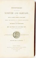 Books:Travels & Voyages, Austen H. Layard. Discoveries among the Ruins of Nineveh and Babylon; with Travels in Armenia, Kurdistan, and the Desert...