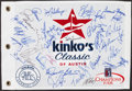 Golf Collectibles:Autographs, 2004 Kinkos Classic of Austin Multi Signed Golf Flag....