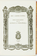 Books:Reference & Bibliography, Diccionario de la Lengua Espanola. Madrid: Real AcademiaEspanola, 1972. Nineteenth edition. Quarto. Publisher's full le...