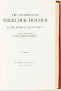 Books:Literature Pre-1900, Sir Arthur Conan Doyle. The Complete Sherlock Holmes. GardenCity: Doubleday, [n.d.]. Custom leather binding with gi...