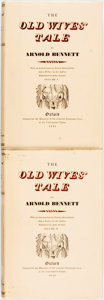 Books:Literature Pre-1900, [Limited Editions Club]. John Austen, Illustrator. SIGNED/LIMITED. Arnold Bennett. The Old Wives Tale, Vols. I & II.... (Total: 2 Items)