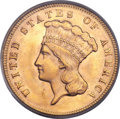 Three Dollar Gold Pieces, 1878 $3 MS65 PCGS. CAC....