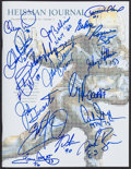 Football Collectibles:Publications, Heisman Trophy Winners Multi Signed Magazine....