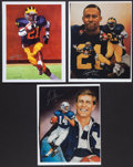 Football Collectibles:Photos, Desmond Howard (2) and Ty Detmer Signed Prints....