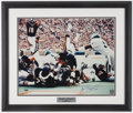 Football Collectibles:Photos, Walter Payton Signed Oversized Photograph - Steiner....