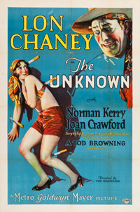 "The Unknown (MGM, 1927). One Sheet (27"" X 41"")"