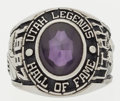 Basketball Collectibles:Others, 1987 Utah Legends Hall of Fame Ring Attributed to MervinJackson....