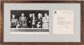 Autographs:Celebrities, Neil Armstrong Typed Letter Signed in Framed Display. ...