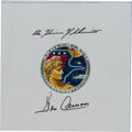 Explorers:Space Exploration, Apollo 17 Beta Cloth Mission Insignia Signed by Cernan and Schmitt,Originally from the Personal Collection of Gene Cernan, wi...