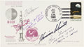 Explorers:Space Exploration, Apollo 11 Launch Cover Signed by Evans, Haise, McCandless, andSchmitt. ...