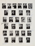 Autographs:Celebrities, NASA Astronaut Groups One, Two, and Three: Portrait Page Signed by Eighteen, Circa 1964. ...