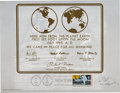 Autographs:Celebrities, Dalai Lama Signed Apollo 11 First Day Souvenir Sheet. ...