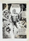 Original Comic Art:Splash Pages, Vicente Alcazar Eerie #55 Splash Page Original Art (Warren,1974)....