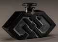 Art Glass:Lalique, R. LALIQUE BLACK GLASS DANDY PERFUME BOTTLE. Circa 1927.Molded R. LALIQUE . M p. 936, No. D'ORSAY - 25. Ht....