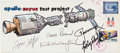 Explorers:Space Exploration, Apollo-Soyuz Test Project Crew-Signed Hand-Painted Cover. ...