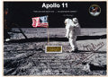 Explorers:Space Exploration, Apollo 11 Flown Kapton Foil on Presentation Card Signed by BuzzAldrin, Originally from His Personal Collection. ...