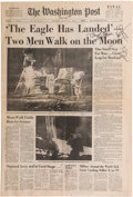 Explorers:Space Exploration, Apollo 11 Crew-Signed Washington Post Moon Landing NewspaperReprint Originally from the Personal Collection of Bu...