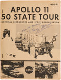 """Explorers:Space Exploration, Buzz Aldrin Signed NASA """"Apollo 11 50 State Tour 1970-71"""" Report,Originally from His Personal Collection. ..."""