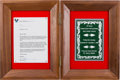 Explorers:Space Exploration, Walt Disney World 1996 Candlelight Processional Letter and Plaquein Wooden Presentation Case Signed by Buzz Aldrin, Originall...